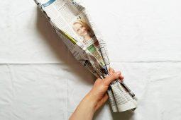 DIY Mülltüte aus Zeitungspapier